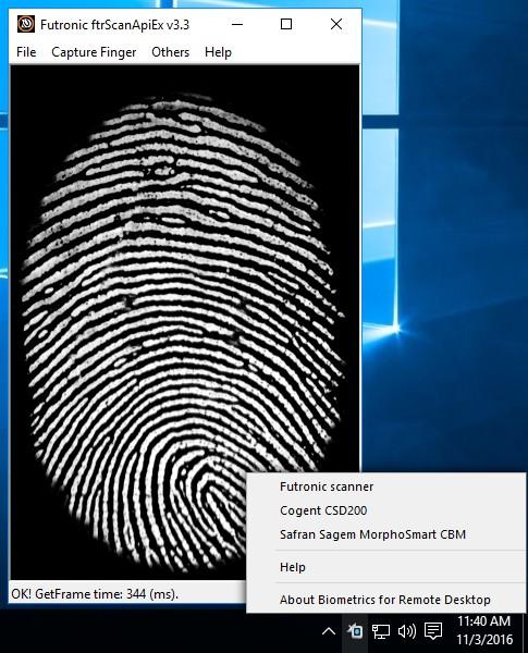 Biometrics for Remote Desktop 1.3
